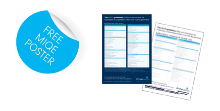 MIQE Free poster and image of laboratory notebook checklist